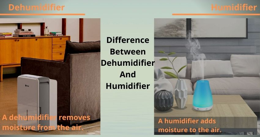 Difference Between Dehumidifier And Humidifier
